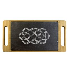 KITCHEN & ACCESSORIES CETIC KNOT OCEAN PLAIT SERVING BOARD with BAMBOO TRAY