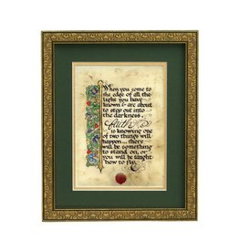 "PLAQUES, SIGNS & POSTERS ""FAITH..."" MANUSCRIPT 8X10 PLAQUE"
