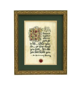"PLAQUES, SIGNS & POSTERS ""ANNIVERSARY BLESSING"" MANUSCRIPT 8x10 PLAQUE"
