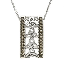 PENDANTS & NECKLACES ANU STERLING & MARCASITE TRINITY PENDANT