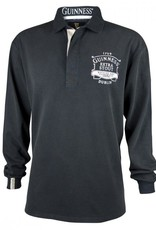 SPORTSWEAR GUINNESS CLASSIC BLACK WASHED RUGBY JERSEY