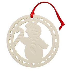 ORNAMENTS BELLEEK LIVING SNOWMAN ORNAMENT