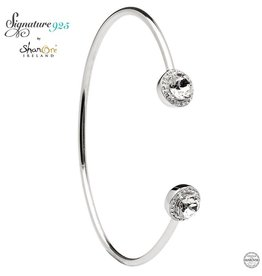 BRACELETS & BANGLES SIGNATURE 925 - HALO BANGLE with SWAROVSKI CRYSTALS