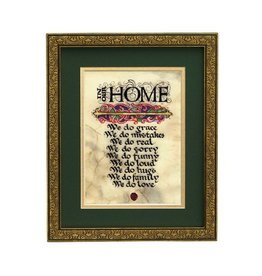 """PLAQUES, SIGNS & POSTERS """"IN OUR HOME..."""" 8x10 MANUSCRIPT"""
