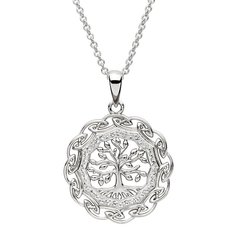 PENDANTS & NECKLACES SHANORE STERLING TREE OF LIFE PENDANT with SWAROVSKI CRYSTAL