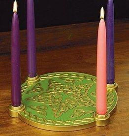 RELIGIOUS CELTIC KNOT STAR ADVENT WREATH