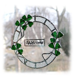STAINED GLASS WELCOME WREATH
