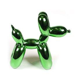 DECOR GREEN BALLOON DOG - SMALL