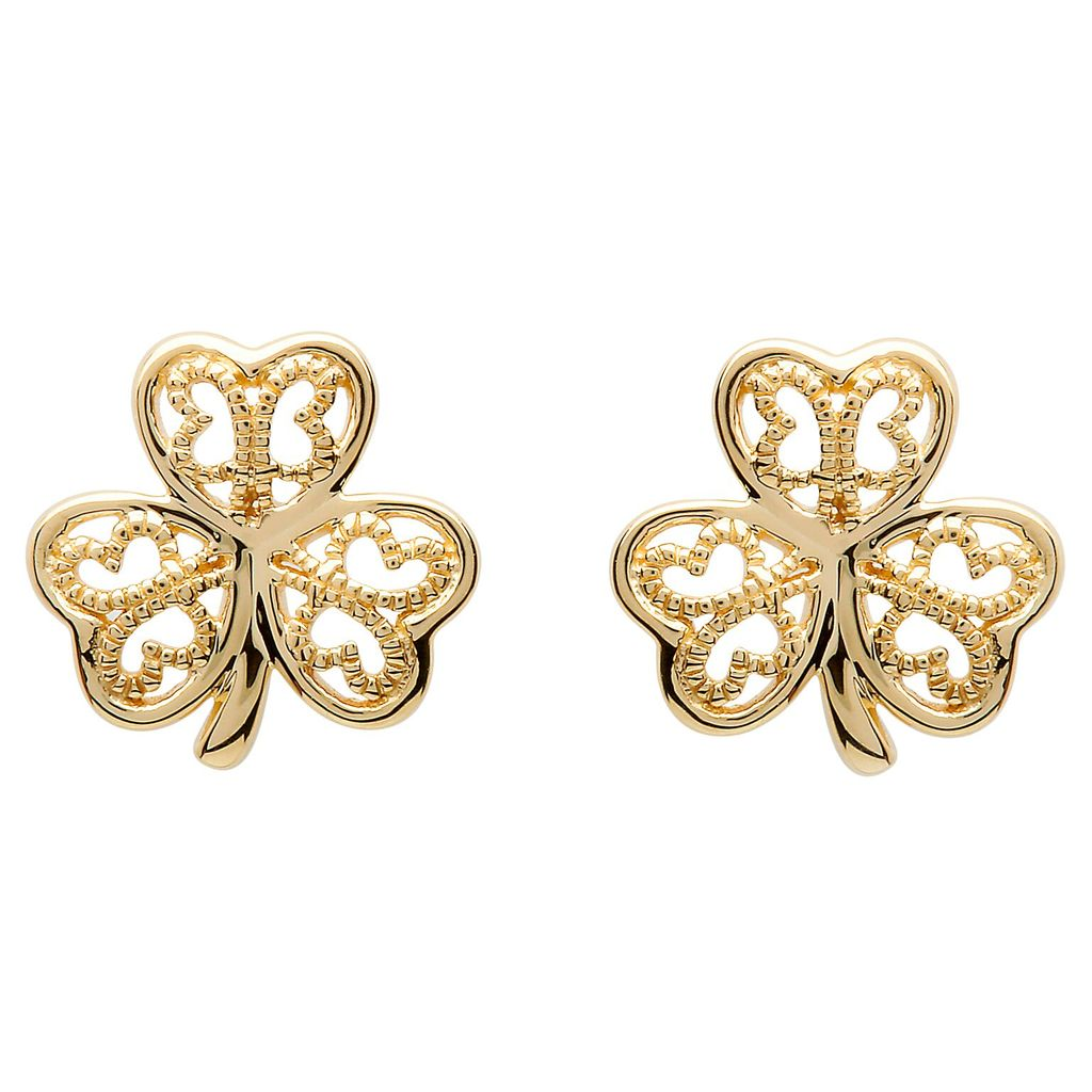 Earrings Shanore 10k Shamrock Stud