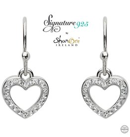 EARRINGS SIGNATURE 925 - HEART EARRING with SWAROVSKI CRYSTALS