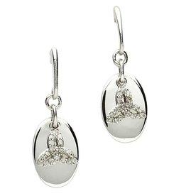 EARRINGS CLEARANCE - SHANORE STERLING & DIAMOND CELTIC TRINITY EARRINGS - FINAL SALE