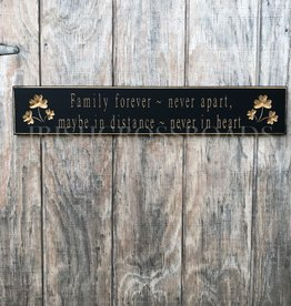 """PLAQUES & GIFTS """"FAMILY FOREVER..."""" CARVED WOOD SIGN"""