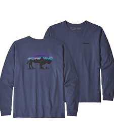 Mens Long Sleeve Fitz Roy Bison Responsibili-Tee