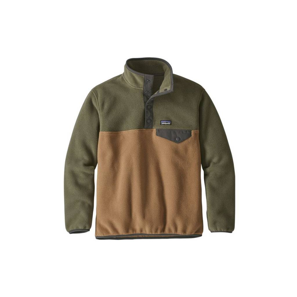 40fb86caa Patagonia Boys  Lightweight Synchilla Snap-T Pullover - Gearhead ...
