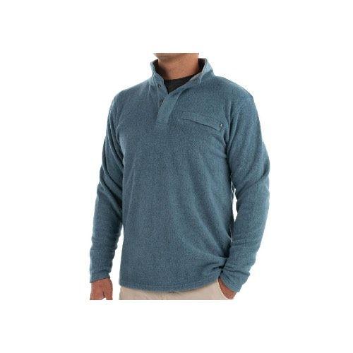 Free Fly Apparel Men's Bamboo Polar Fleece Snap Pullover