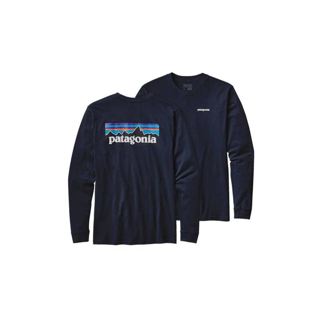 Patagonia Men s Long Sleeve P-6 Logo Cotton T-Shirt - Gearhead Outfitters 50b37c0285a