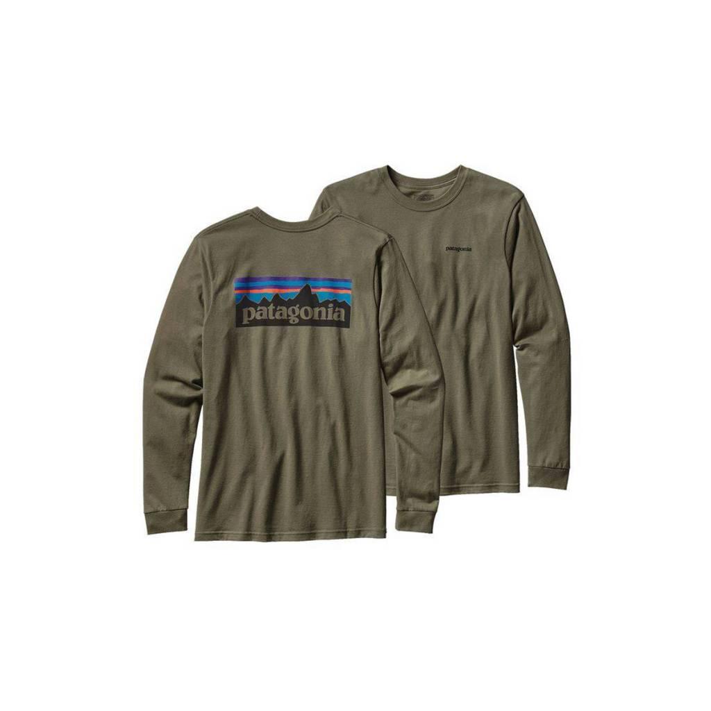 Patagonia Men s Long Sleeve P-6 Logo Cotton T-Shirt - Gearhead ... 3194402bea4