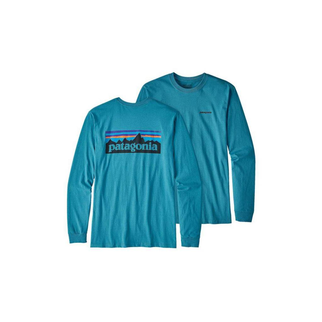 Patagonia Men's Long Sleeve P-6 Logo Cotton T-Shirt
