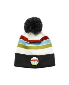 Retro Patch Pom Beanie