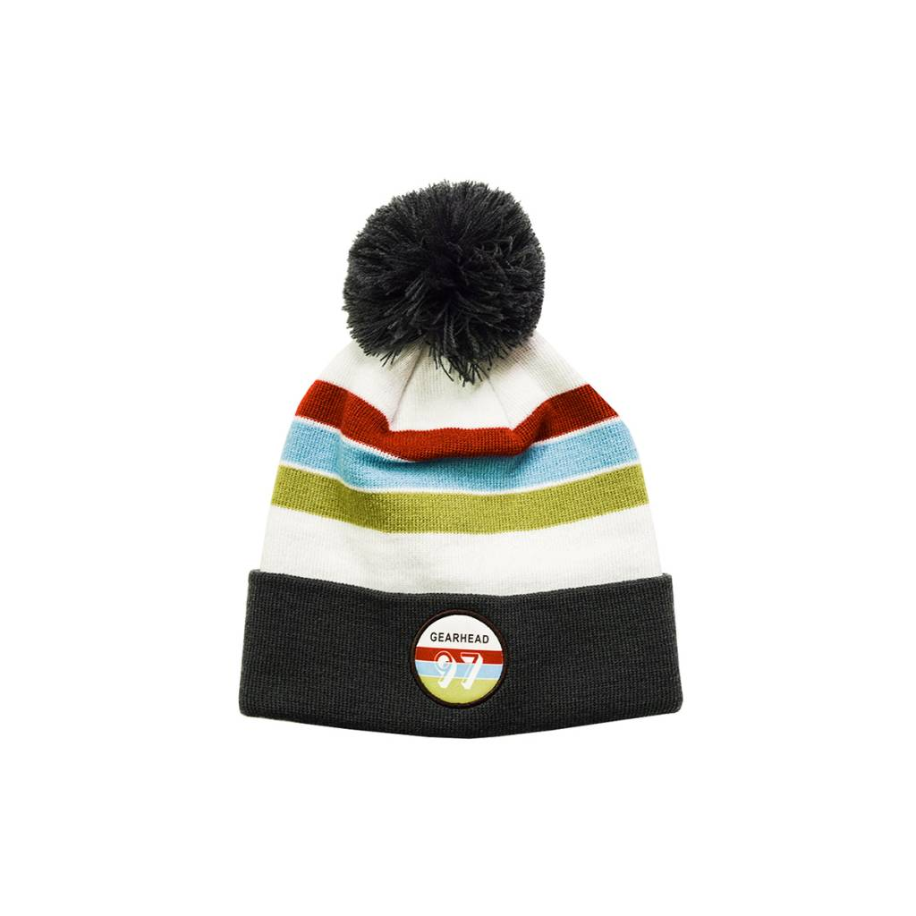 Gearhead Outfitters Retro Patch Pom Beanie