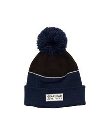 Text Patch Pom Beanie