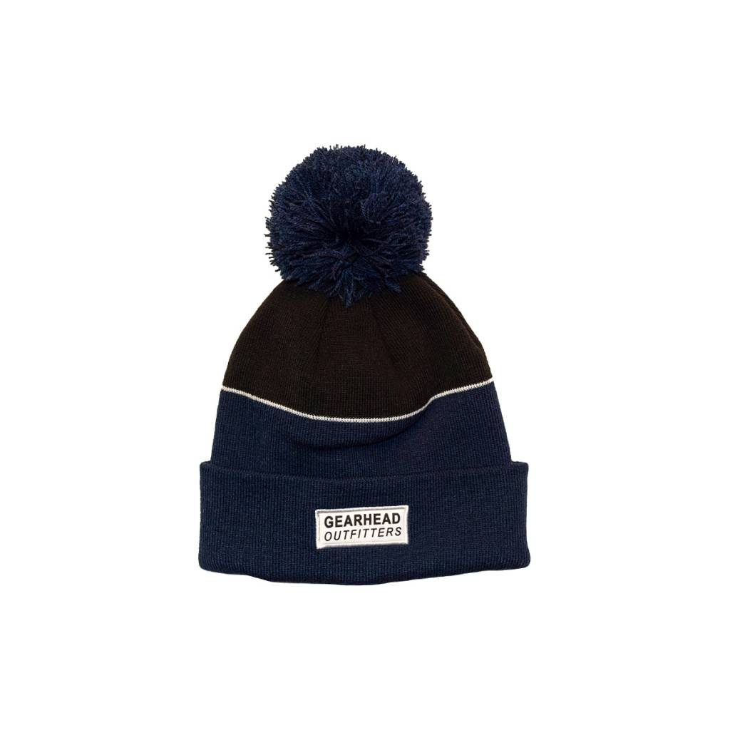Gearhead Outfitters Text Patch Pom Beanie