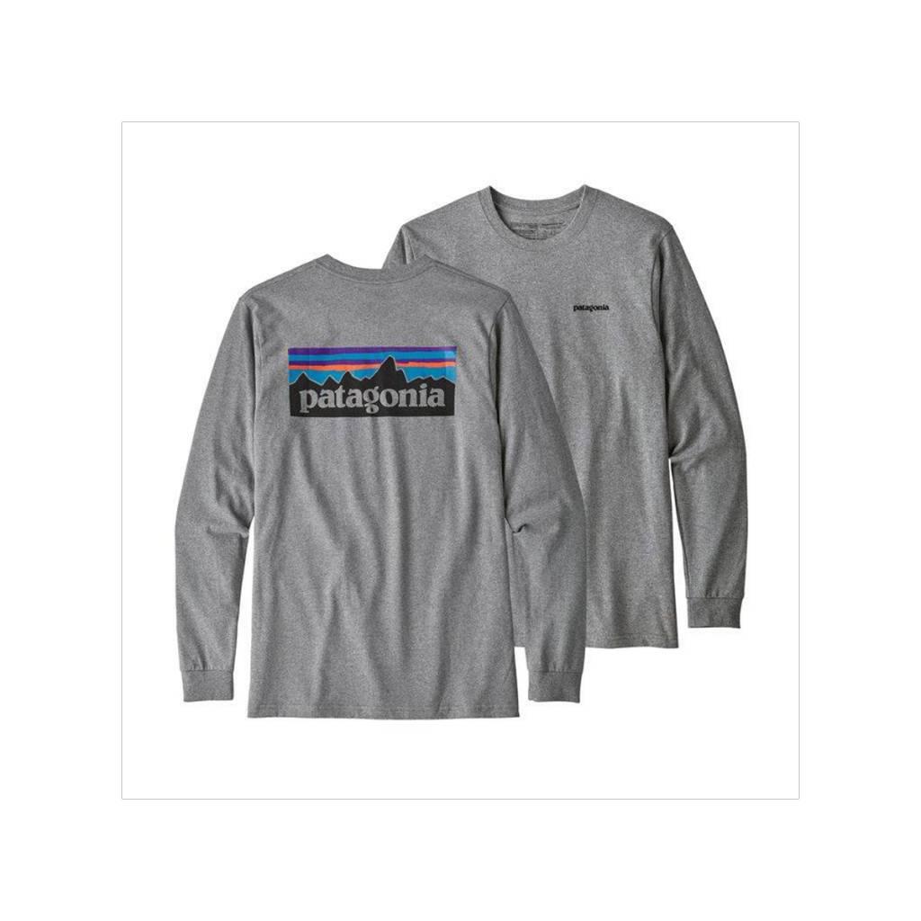 5b0b55c9e29 Patagonia Mens Long Sleeve P-6 Logo Responsibili-Tee - Gearhead ...