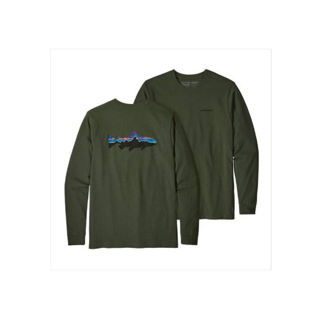 Patagonia Men's Long Sleeve Fitz Roy Trout Responsibili-Tee