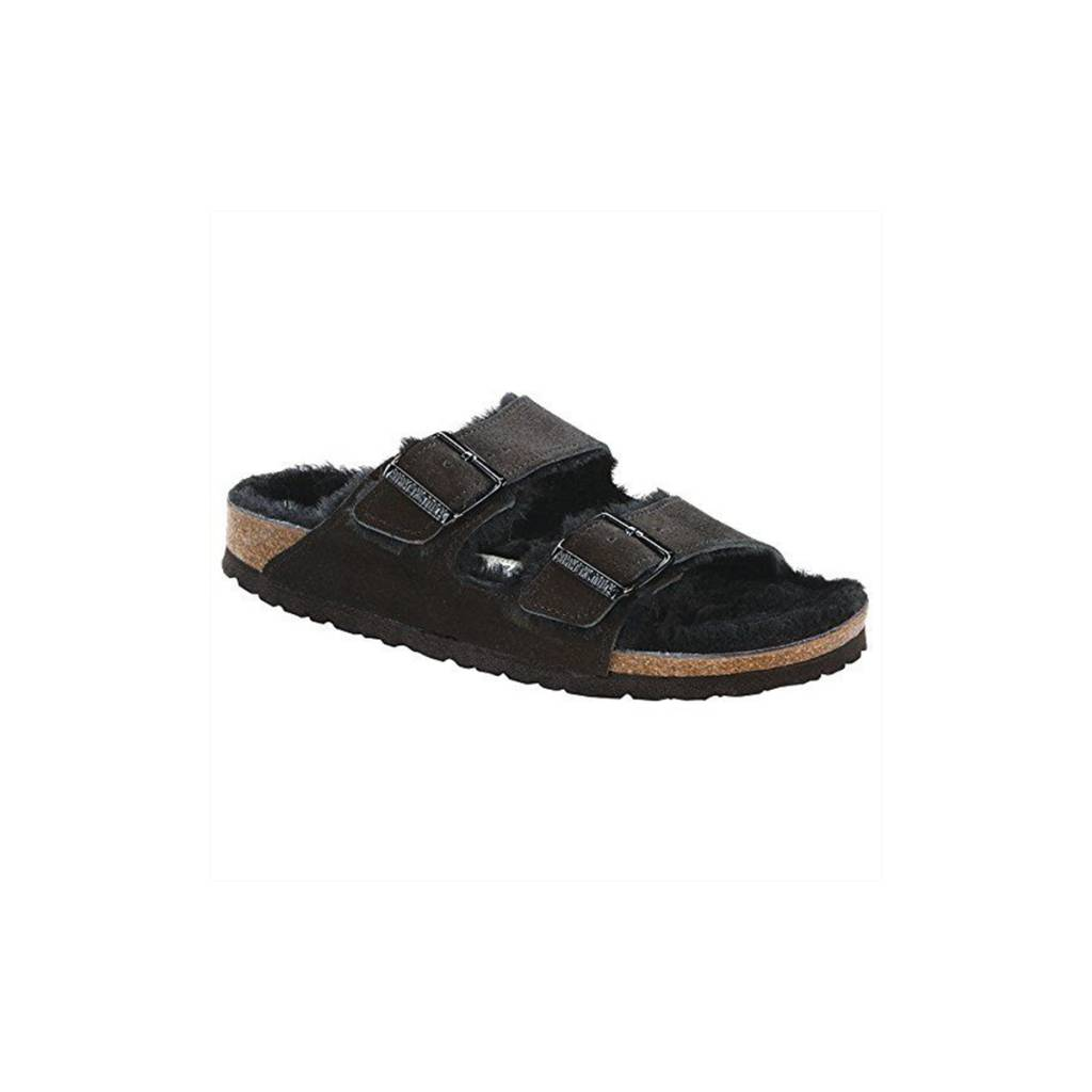 Birkenstock Arizona Suede/Shearling-Narrow