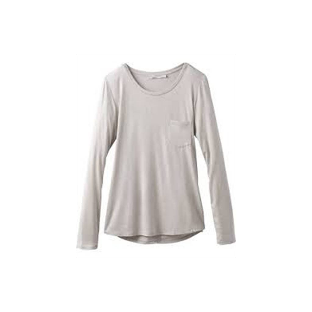 Prana Foundation Long Sleeve Crew Neck Top
