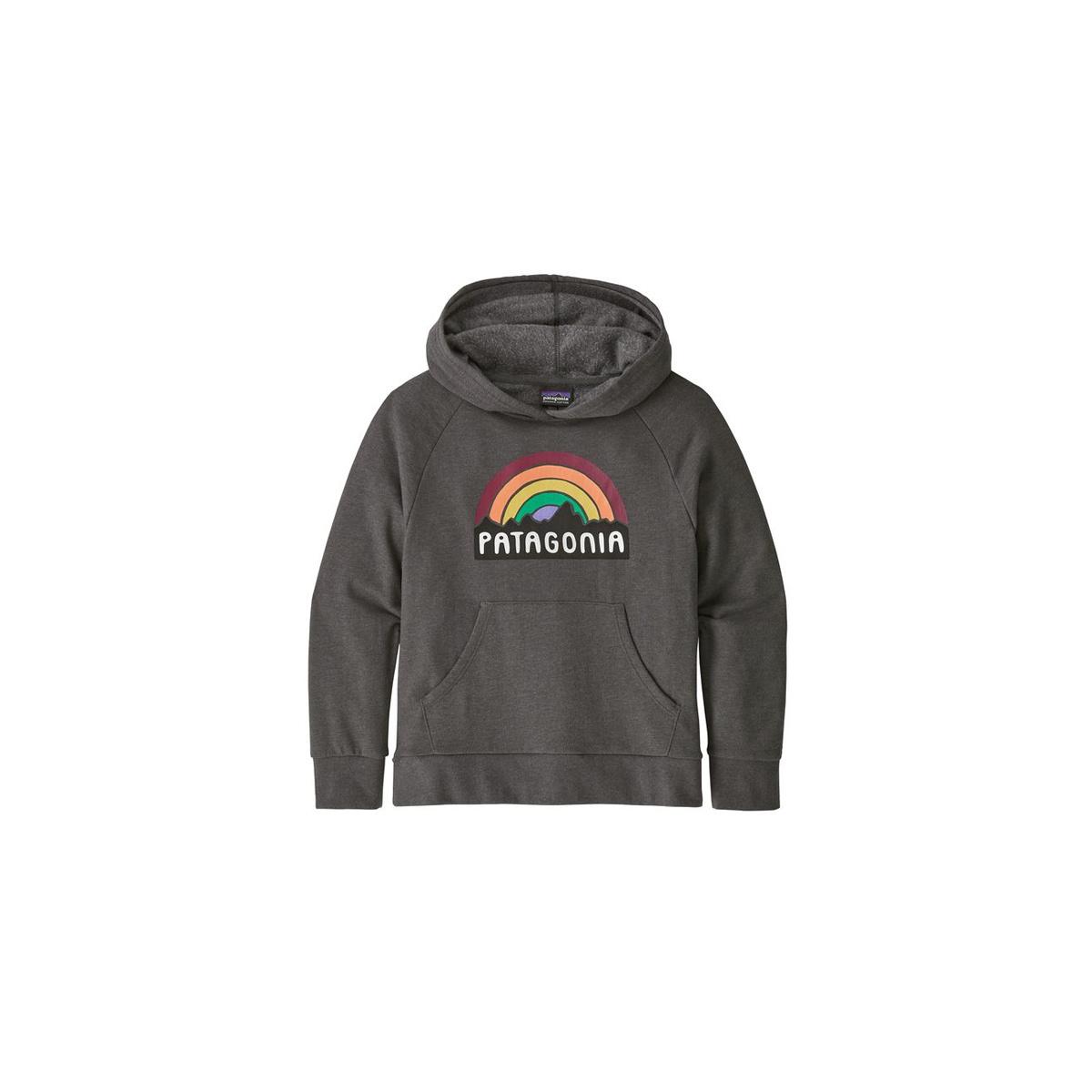Patagonia Girl's  Light Weight  Fitz Roy Rainbow Hoody Sweatshirt