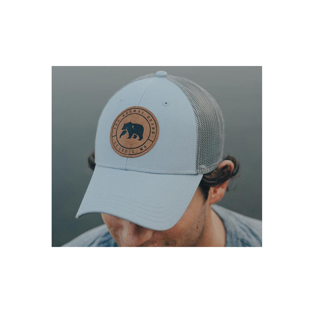 Leather Patch Trucker