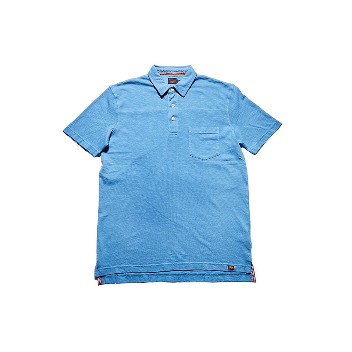 The Normal Brand Men's Slub Short Sleeve Pocket Polo