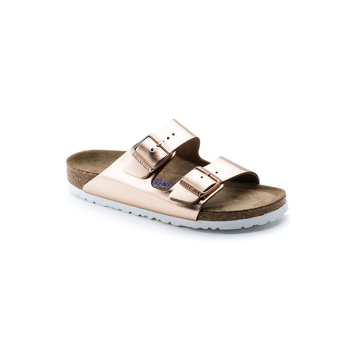 Birkenstock Arizona Soft Footbed Leather-Narrow