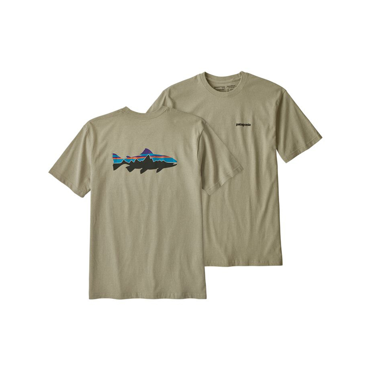 Patagonia Men's Short Sleeve Fitz Roy Trout Responsibili-Tee