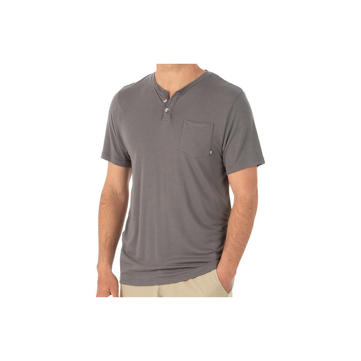 Free Fly Apparel Men's Bamboo Slacktide Short Sleeve Henley