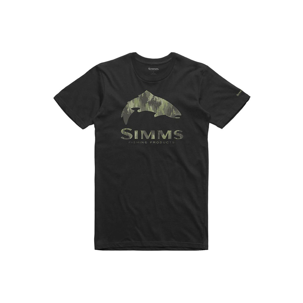 Simms Clothing Men's Trout Pine Camo T-Shirt