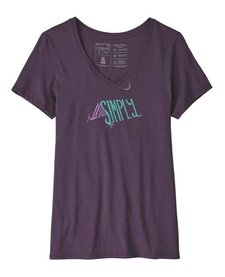 Womens Live Simply Sleeping Out Organic V-Neck T-Shirt