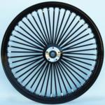 48 Fat Spoke Wheel - Front - Black/Black - Single - 3/4'' Axle - Narrow - 21 x 2.15