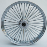 48 Fat Spoke Wheel - Front - Chrome - Double - 1'' Axle - 21 X 2.15