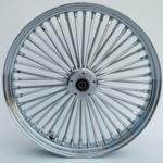 48 Fat Spoke Wheel - Front - Chrome - Double - 1'' Axle - 23 x 3.5