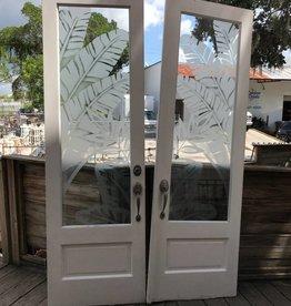 White Palm Window Door Set 30x96