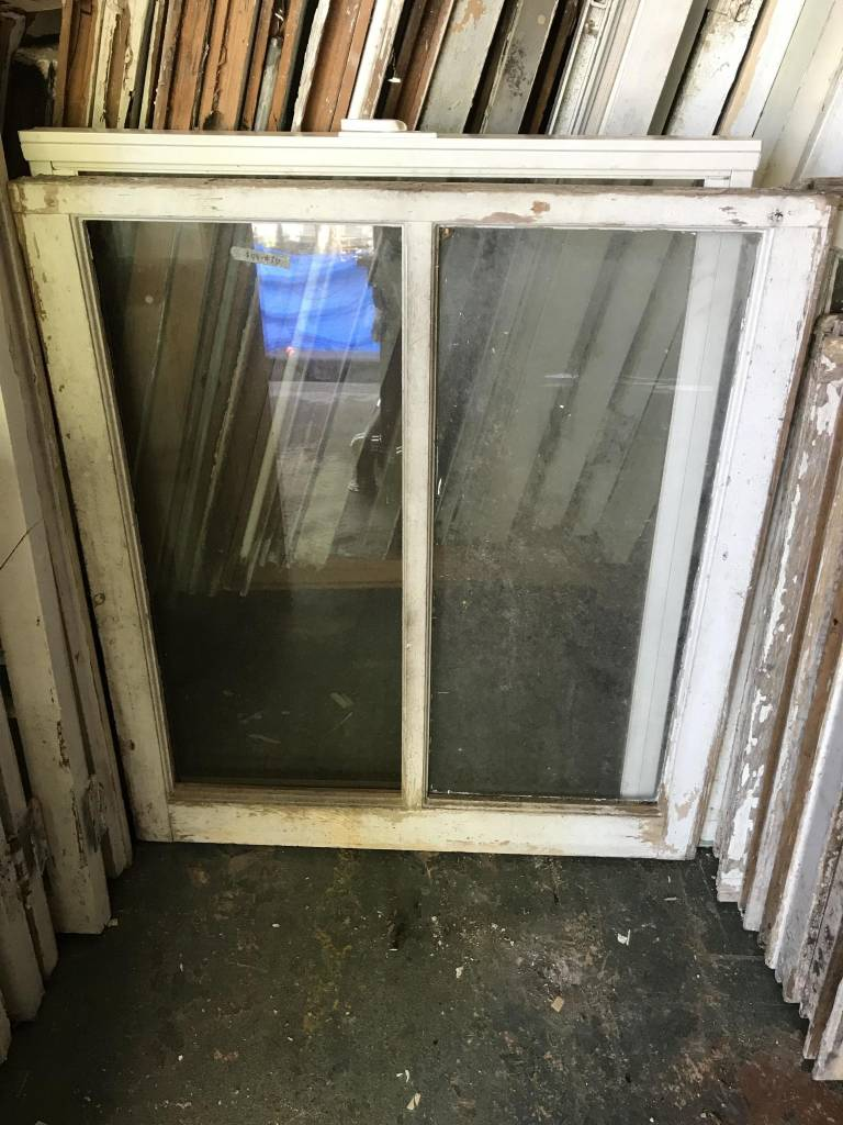 Double Pane Broken Window 29 x 32 1/2 inches