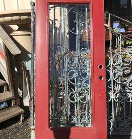 Red Exterior Door 79 x 35 1/2