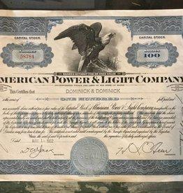 Vitage Stock Certificate
