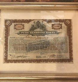 Vintage Stock Certificate (Framed)