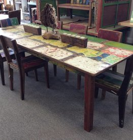 """50 % deposit 98""""x40"""" Recycled Boat Dining Table"""