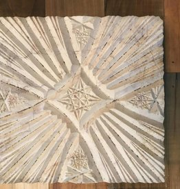 Turkish Marble Tile Cross Star Cream