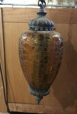 Amber Glass Pendant Light