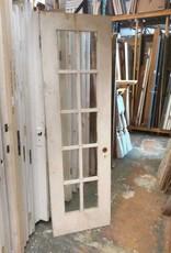 10 Panel Glass Door  23 3/4 x 79 5/8